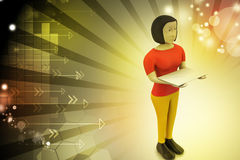3d woman with e mail Royalty Free Stock Photo