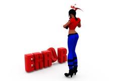 3d woman error concept Stock Photography