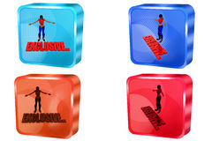 3d woman exclusive concept Royalty Free Stock Photos