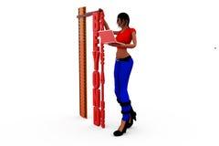 3d woman expectation concept Stock Photos