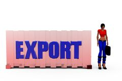 3d woman export concept Stock Image