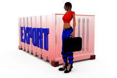 3d woman export concept Stock Photo