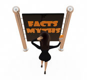 3d woman fact myths concept Stock Photography