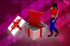 3D woman feedback illustration Royalty Free Stock Photography