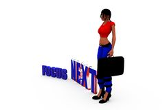 3d woman focus next concept Stock Images