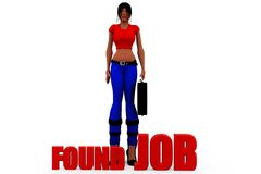 3d woman found job concept Royalty Free Stock Photography