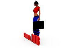 3d woman found job concept Royalty Free Stock Images