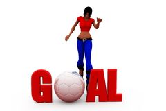 3d woman goal concept Stock Photography