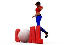 3d woman goal concept Stock Photo