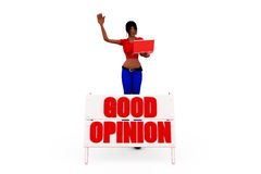 3d woman good opinion concept Royalty Free Stock Photo