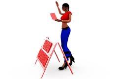 3d woman good opinion concept Stock Photos
