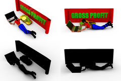 3d woman gross profit concept collections with alpha and shadow channel Stock Photography