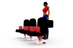 3d woman HEC concept Royalty Free Stock Photography