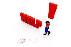 3d woman help concept Stock Images