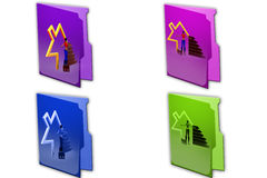 3d woman home icon icon Royalty Free Stock Images
