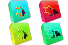 3d woman home icon icon Royalty Free Stock Photography