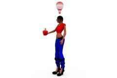 3d woman idea fruit concept Stock Image