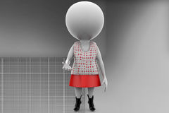 3d woman illustration Royalty Free Stock Image