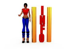 3d woman information concept Royalty Free Stock Photography