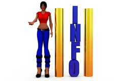 3d woman information concept Stock Image