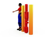 3d woman information concept Royalty Free Stock Image