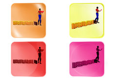 3d woman insurance concept Royalty Free Stock Photo