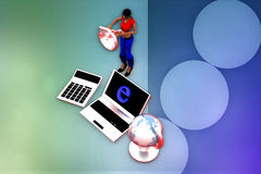 3d woman internet illustration Stock Photo
