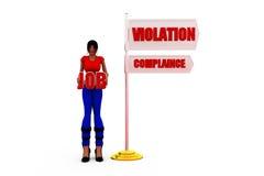3d woman job concept Royalty Free Stock Image