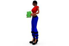 3d woman job concept Stock Photos