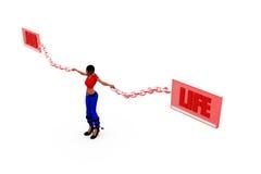 3d woman job life concept Stock Photography