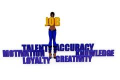 3d woman job needs concept Royalty Free Stock Photo
