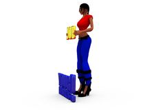 3d woman job result concept Stock Images