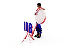3d woman job search concept Royalty Free Stock Photography