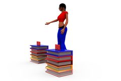 3d woman learn idea concept Stock Images