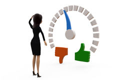3d woman like meter concept Stock Images