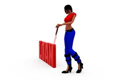 3d woman loan concept Royalty Free Stock Photography