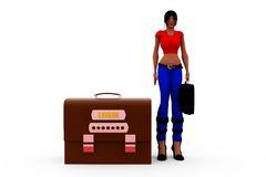 3d woman log in concept Royalty Free Stock Photos