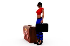 3d woman log in concept Stock Images
