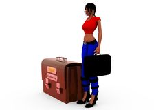 3d woman log in concept Royalty Free Stock Images