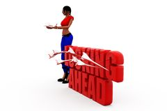 3d woman looking ahead concept Stock Image