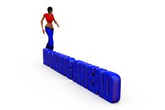 3d woman looking ahead concept Royalty Free Stock Photos