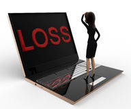 3d woman looking stress loss concept Royalty Free Stock Photos