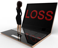 3d woman looking stress loss concept Royalty Free Stock Images