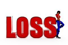 3d woman loss concept Stock Photos