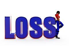 3d woman loss concept Stock Image