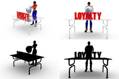 3d woman loyalty concept collections with alpha and shadow channel Royalty Free Stock Image