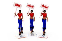 3d woman LPI concept Royalty Free Stock Photography