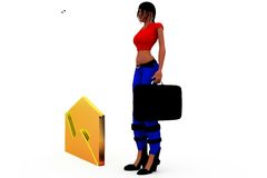 3d woman mail concept Stock Photography