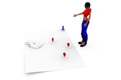 3d woman map concept Royalty Free Stock Photography