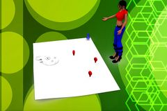 3d woman map illustration Royalty Free Stock Images